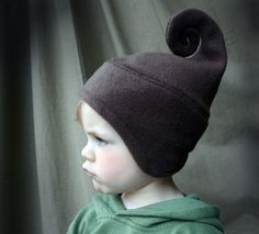 $25 | sweet CHOCOLATE BROWN swirly ice cream hat by swirlyhats on Etsy | no need for pointed ears, then.