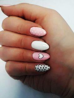 70 Cute Valentine Nail Art Designs for 2019 - Page 2 of 4 - Fashion Enzyme Red Nail Art, Pink Nails, Nail Art Designs, Nagellack Design, Valentine Nail Art, Chic Nails, Heart Nails, Nail Decorations, Halloween Nails