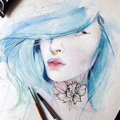 I guess this blue hair girl will be the first in my mermaid series 🐬 . . . #watercolorpainting #watercolorportrait #watercolorart #watercolorartist #society6 #instartpics #inspiring_watercolors #waterblog #_tebo_ #artists_community #arts_help #art_spotlight #art_worldly #arts_gallery #artsanity #watercolour_gallery #art_realisme #artist_4_shoutout #artstarsmag #talnts #art_collective #arts_secret #arts_gate #artistic_share #nawden #beautifulbizarre #blvart #worldofartists #art_empire…