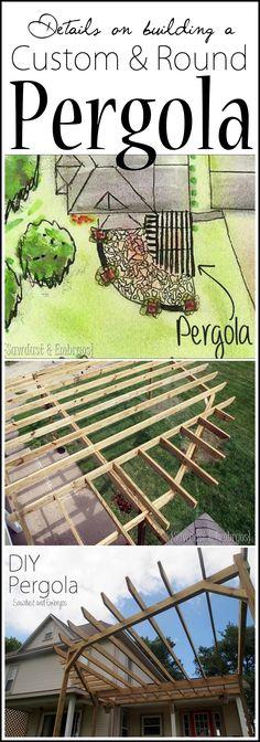 Building A Round Pergola