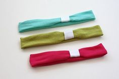 Soft baby headbands from old t-shirts (tutorial) - EASY!