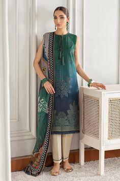 Pakistani Salwar Kameez, Anarkali, Pakistani Outfits, Print Chiffon, Wedding Attire, Indian Dresses, Designer Wear, Baroque, Cold Shoulder Dress
