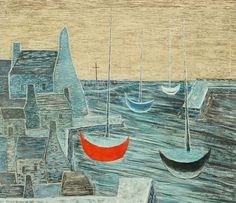 Jan Zrzavý - Sleeping boats. #art #Czechia #painting Roman Catholic, Boats, Artist, Painting, Activities, Paint, Catholic, Ships, Artists