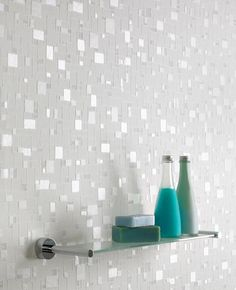 Spa : White/Light Blue Wallpaper---Amira's Bathroom?? Pretty!