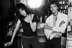 Patti Smith & Robert Mapplethorpe before they were famous, by Norman Seef  here the photo session with them:  http://www.retronaut.com/2013/04/outtakes-from-patti-smith-robert-mapplethorpe-session-by-norman-seeff/