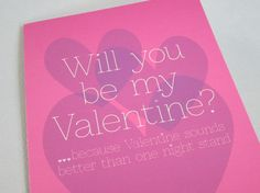 Funny Valentine's Day Card Funny Card Card for by FunGirlsCards, $3.50 #funnyvalentine #valentinesdaycard