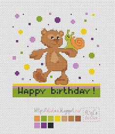 Мои творилки *** Aliolka design: С днем рождения Медвежонка!