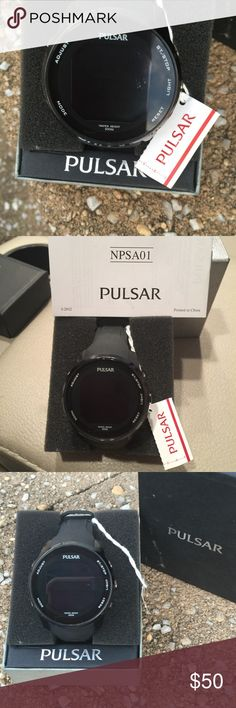 Pulsar Men's Digital Chronograph Watch 47-mm. case size Buckle clasp; rubber strap Digital dial; Japanese quartz movement Water resistant up to 100 meters Calendar and date display Stainless steel. Analogue Type Imported Pulsar Accessories Watches