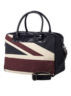 c9b23dfa55611a Ben Sherman Navy Union Jack Shoulder Bag Large Canvas