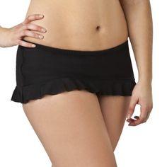 Juniors Plus-Size Xhilaration® Black Hipster Swim Skirt