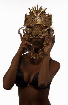 Female POC Character Inspiration for fantasy novels. Gold Aesthetic, Queen Aesthetic, American Gods, Afro Punk, Tips Belleza, Black Art, Black Gold, Black Is Beautiful, Black Girl Magic