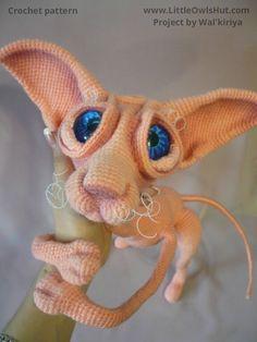 Project by Walkiriya. Crochet pattern Cat Sphinx Findus by Svetlana Pertseva fot…