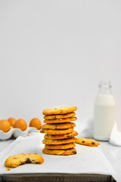 Fun Baking Recipes, My Recipes, Sweet Recipes, Cookie Recipes, Chewy Chocolate Cookies, Best Chocolate, Chocolate Chips, Iced Biscuits, Biscuit Cookies