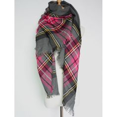 Wholesale Casual Plaid Pattern Fringed Big Square Scarf Only $3.71 Drop Shipping | TrendsGal.com