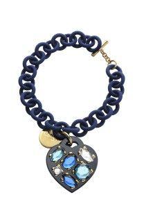 Ops! Objects náramek Stone modrý -  1087 Kč Swarovski, Objects, Stone, Bracelets, Jewelry, Fashion, Moda, Rock, Jewlery