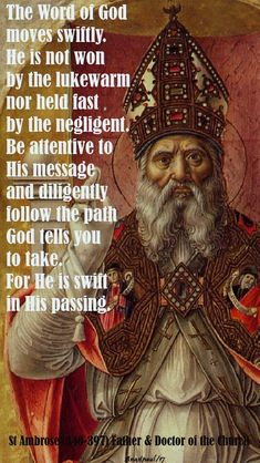 Quote/s of the Day – 9 December – The Second Sunday of Advent – AnaStpaul, Catholic Religion, Catholic Quotes, Catholic Prayers, Rosary Catholic, Catholic Saints, Third Sunday Of Advent, St Ambrose, Early Church Fathers, Saint Quotes