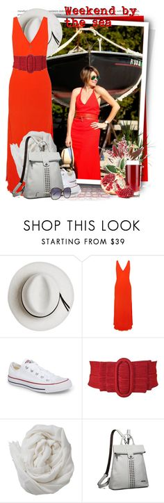"""""""Red Silk Corded Belt With Bow Buckle"""" by tasha1973 ❤ liked on Polyvore featuring Oris, Calypso Private Label, Raquel Allegra, Converse, Brunello Cucinelli, Victoria Beckham and Justin Bieber"""