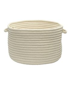 Linen Home Utility Basket, Stitch together cotton rope.