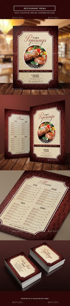 Simple Restaurant Menu Psd Template  Download  Https
