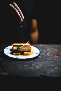 seared paneer with tea and honey vinaigrette| A Brown Table