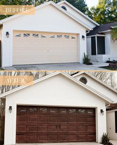 Garage Door Update, Faux Wood Garage Door, Metal Garage Doors, Garage Door Colors, Garage Door Paint, Garage Door Hardware, Garage Door Decor, Garage Door Styles, Garage Door Makeover