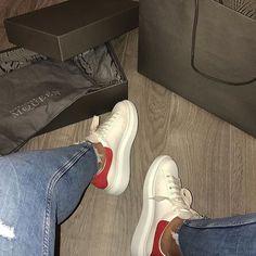 Alexander McQueen Sneaker McQueen, shoes sneakers, and rouge red - GET DEAL. Alexander Mcqueen Oversized Sneakers, Alexander Mcqueen Shoes, Studded Sneakers, Leather Sneakers, Best Sneakers, Shoes Sneakers, Luxury Shoes, Fashion Shoes, Nike Fashion