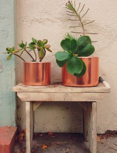 Upcycled Copper planters {DIY} | Justina Blakeney Est. 1979