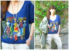 travel outfit   #fashion #sweatshirt #parrot #shoes #travel #africa #blue #exotic #madeinitaly #fashionblog #fashionblogger @altoitaliano