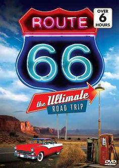 This trip down memory lane re-discovers the now defunct historic Route 66 highway that linked the east and west coasts of America for more than 60 years. Classic Americana sites such as diners, touris Route 66 Sign, Old Route 66, Route 66 Road Trip, Historic Route 66, Travel Route, Road Trip Usa, Places To Travel, Travel Destinations, Bagdad Cafe