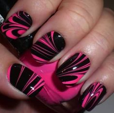 60 Stylish Orange And Black Nail Art Design Ideas #nailart