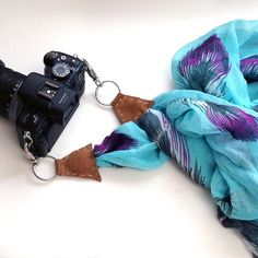 GENIUS. Upcycle an Old Scarf Into a Chic Camera Strap