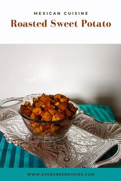 Roasted sweet potato from Mexican cuisine is tasty and makes a good accompaniment with any meal. Serve ot with Spanish or Mexican rice for a hearty meal. #mexicancuisine #dailycooking #lunch #sweetpotato Healthy Dishes, Tasty Dishes, Eating Healthy, Clean Eating, Indian Food Recipes, Asian Recipes, Vegetarian Platter, Dry Snacks, Best Side Dishes