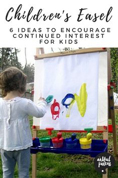 Encourage continued interest in your childrens easel by varying how and where you use it. We've had the same easel for 10 years now and still love it!
