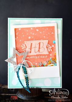 Because shaker cards are just plain FUN!  Leadership Artisan Samples 2015- Birthday Bash | Creations by Mercedes Weber