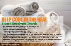 Keep cool in the heat Partner Massage, Towel Workout, Myasthenia Gravis, Spa Towels, After Workout, Keep Cool, Homestead Survival, Workout Rooms, Baby Time
