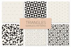 Triangles. Seamless Patterns. Set 4 by Curly_Pat on Creative Market