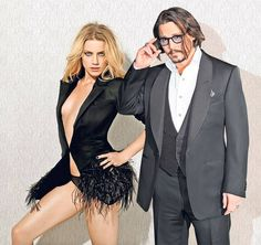 amber heard with johnny depp | Johnny Depp and his too to be wife, Amber Heard