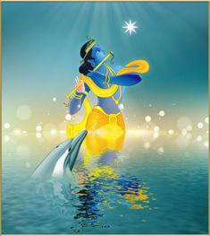 Harald Dastis ~ Krishna avec dauphin