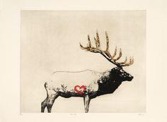 Bull elk - Marc Séguin - Galerie Simon Blais - 5420, boul. St-Laurent, Montréal