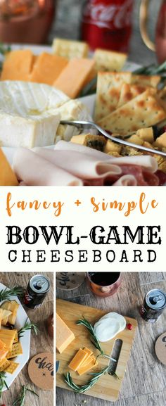 I love that this cheeseboard looks so fancy, but is so simple to put together for football parties! #ad . #ServeWithACoke #BowlGames #CollectiveBias