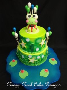 Keroppi Cake Topper by KrazyKoolCakeDesigns on Etsy, $60.00