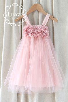 Etsy listing at https://www.etsy.com/listing/205502232/pinkdusty-rose-tulle-flower-girl-dress