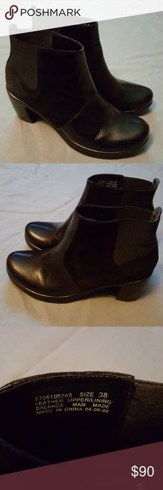 Dansko leather booties EUC worn twice Practically New. I love them but they a little big for me. My loss your gain!! Dansko Shoes Ankle Boots & Booties