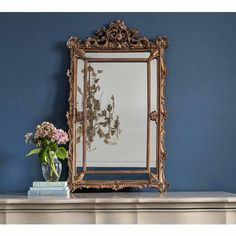 Reflections of Paris Gold Mirror Decor, Gold Mirror Bedroom, Vintage Gold Mirror, Mirrored Bedroom Furniture, Living Room Mirrors, Ornate, Bedroom Vintage, Ornate Mirror, Mirror