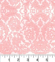"""Two Daughters™ Cotton Fabric 43""""-Tonal Lace Pinknull"""