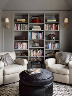 74 Super Cozy Master Sitting Room Ideas www.futuristarchi… 74 Super Cozy Master Sitting Room Ideas www. Home Library Design, Home Office Design, Home Library Decor, Design Desk, Library Ideas, Living Room Decor, Living Spaces, Living Rooms, Kitchen Living