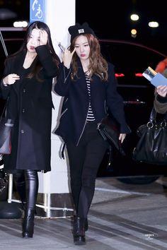 Red Velvet Joy & Seulgi Airport Fashion 151201 2015 Kpop