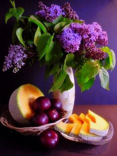 Lilacs and melon and plums, oh my!   ~~  Houston Foodlovers Book Club