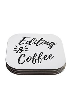 Editing And Coffee Coasters Set Of 4 - - Backdrop Outlet Coffee Coasters, Photographer Gifts, Coaster Set, Dog Tag Necklace, Products, Beauty Products
