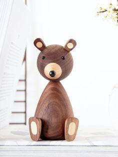 Wood Turning Projects, Wood Projects, Intarsia Holz, Monkey Decorations, Bear Decor, Wood Animal, Diy Holz, Wood Lathe, Wood Ornaments